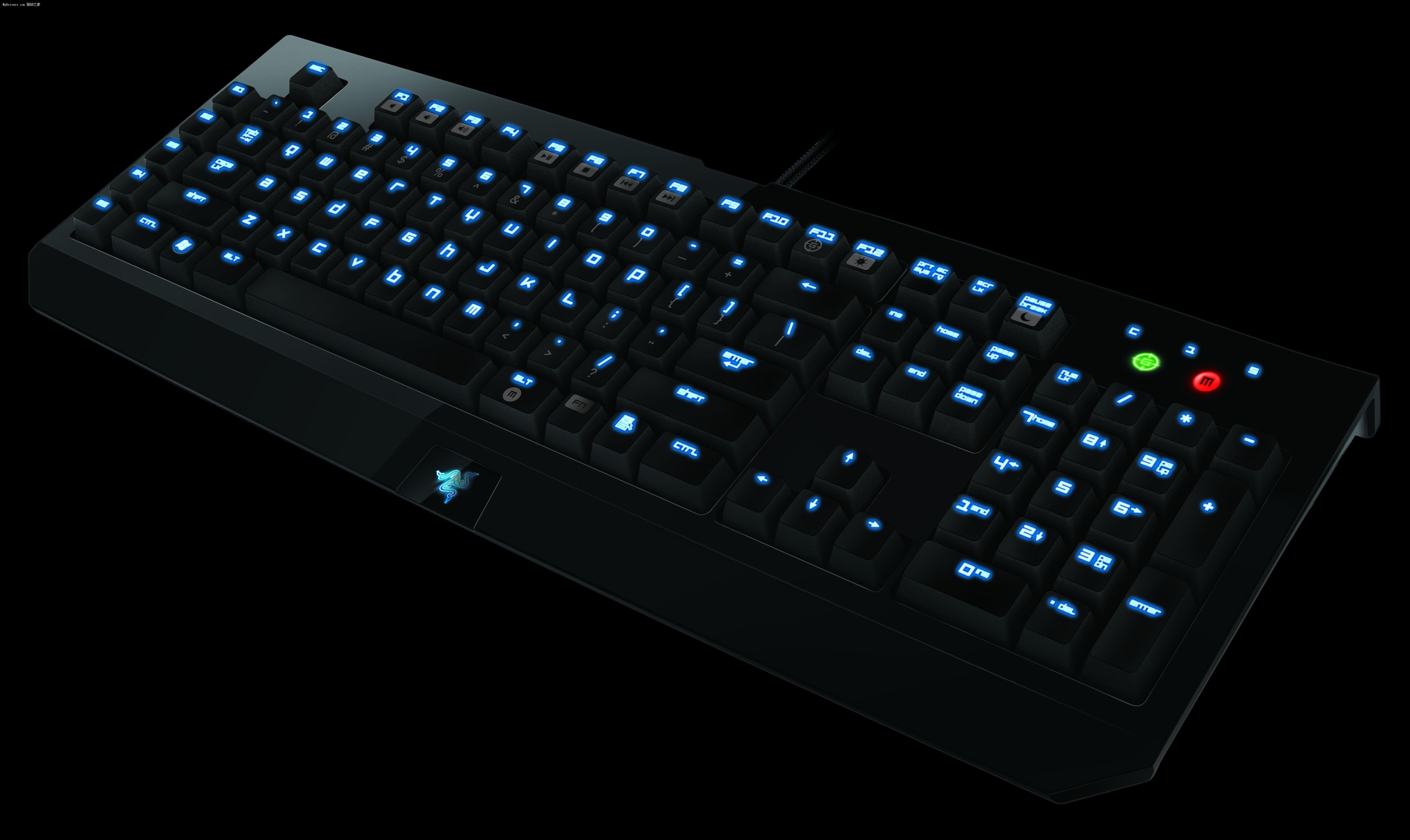 """游戏外设大厂Razer雷蛇今天在德国科隆GamesCom游戏展上发布了游戏键盘新产品BlackWidow黑寡妇,包括两种版本,均采用了机械键盘设计。 Razer表示,目前市面上的大部分高端机械游戏键盘其实都只是标准机械键盘,并未对游戏进行专门设计,线性按键容易引起触发缓慢的问题。这导致很多职业玩家仍然坚持使用普通薄膜键盘。而Razer耗时3年,重新针对游戏需求,对机械键盘结构进行了优化,才打造出了BlackWidow黑寡妇键盘。 Razer并未公布黑寡妇具体使用的""""轴""""类型,但表示"""